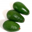 Foto Stock: Three avocados