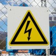 Electric danger sign — Stock Photo #1117074