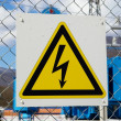 Electric danger sign - Stock Photo
