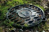 Sewer manhole cover — Stockfoto