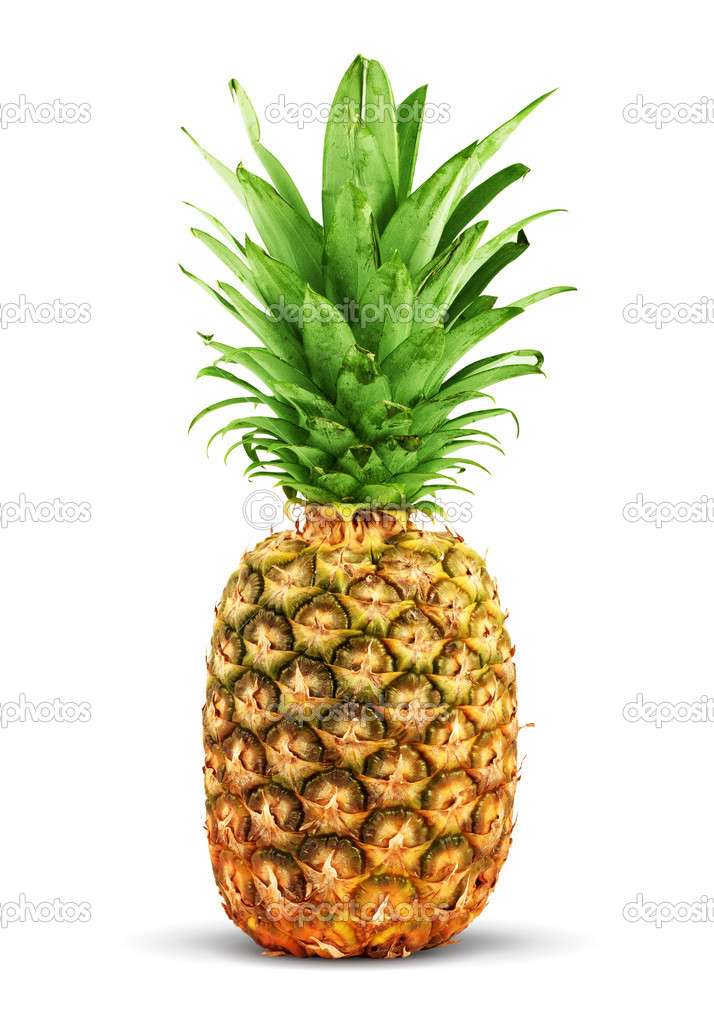 Ripe pineapple isolated on a white background — Stock Photo #1102568