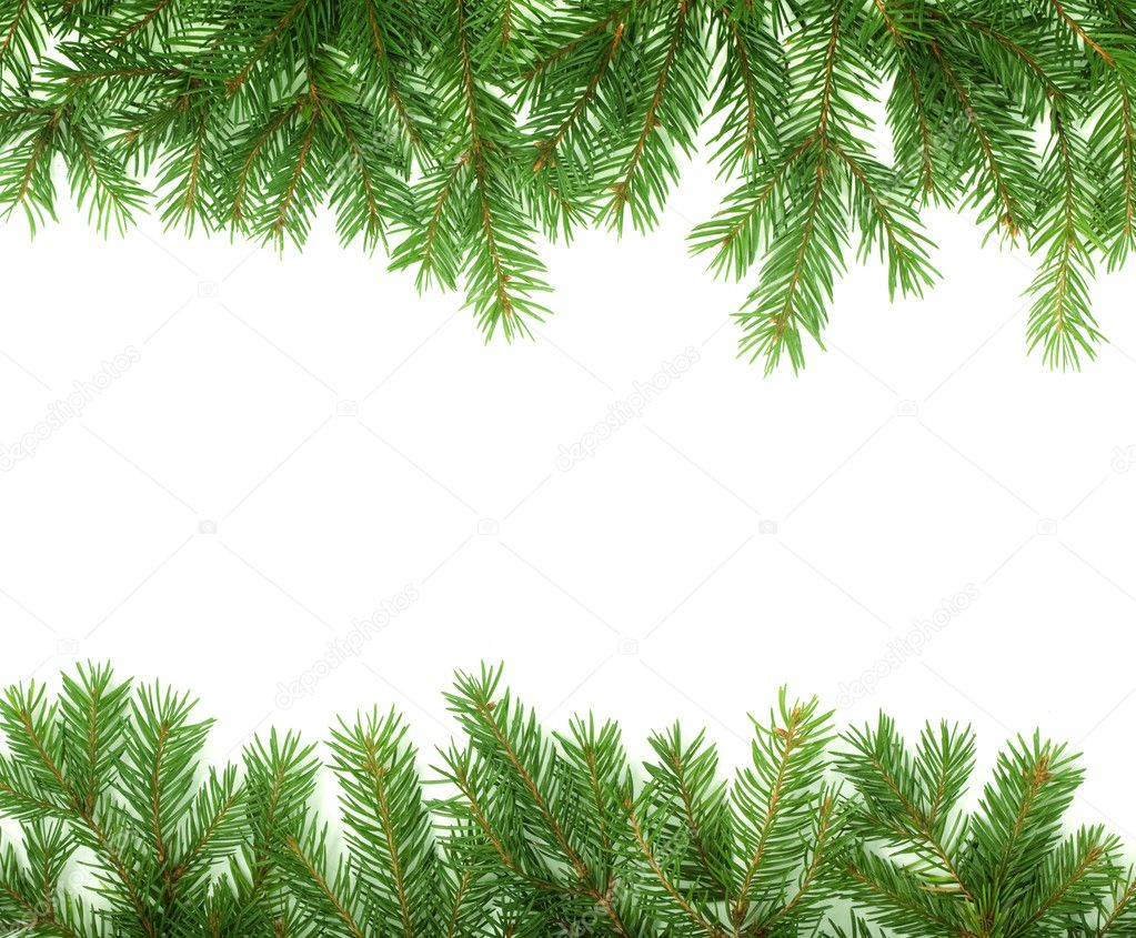 Christmas green  framework isolated on white background — Stock Photo #1104133