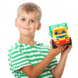 Stock Photo: Boy with a toy