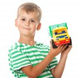 Boy with a toy — Stock Photo