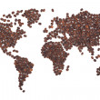 Coffee map - Stock Photo