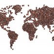 Coffee map - Stockfoto