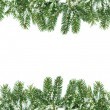 Royalty-Free Stock Photo: Christmas framework with snow