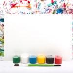 Watercolor, splash, paper — Stock Photo
