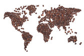 Coffee map — Stock Photo