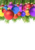 Ramas con un juguete de navidad — Foto de Stock