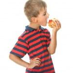 Boy holding an apple — Stock Photo