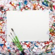 Watercolor, splash, paper — Stock Photo