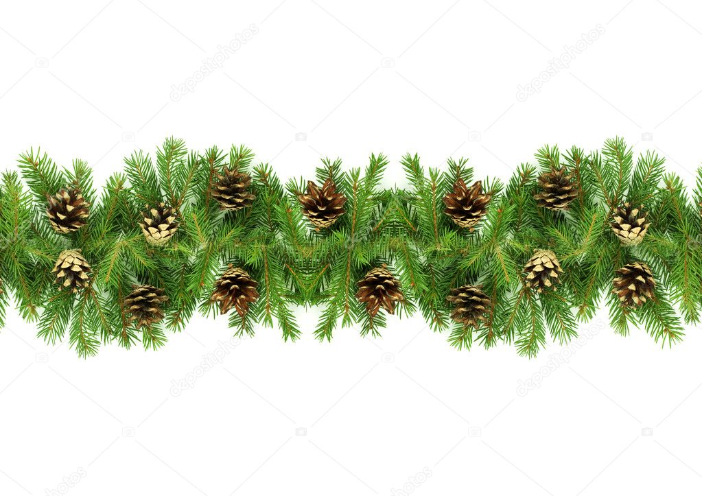 Christmas green  framework isolated on white background — Stock Photo #1148577