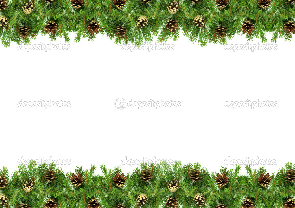 Christmas green  framework isolated on white background — Stock Photo #1148604