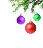 Branches with a Christmas toy — Foto de Stock