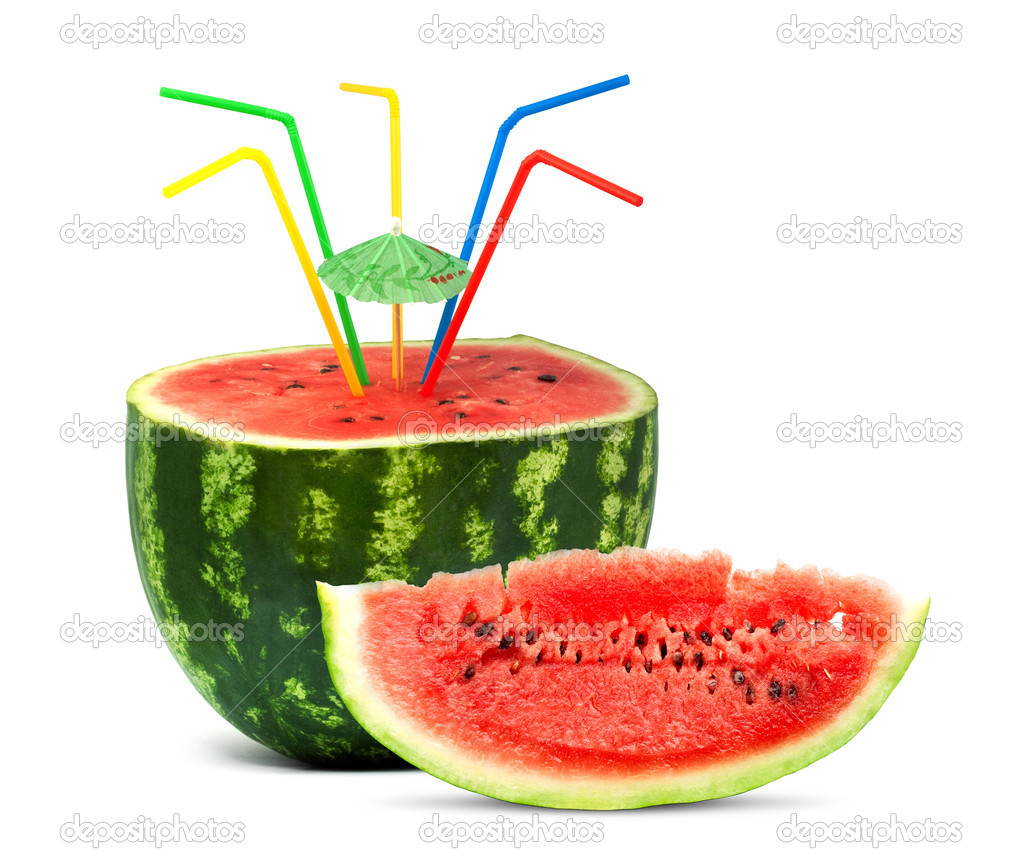 Big red watermelon isolated on white background — Stock Photo #1204721