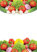 Assorted fresh vegetables isolated on wh — Foto Stock