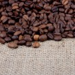 Stock Photo: Brown roasted coffee beans