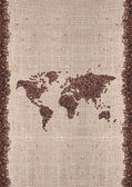 Coffee map — Stock Photo