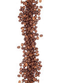 Brown roasted coffee beans — Foto Stock