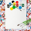 Stock Photo: Watercolor, splash, paper