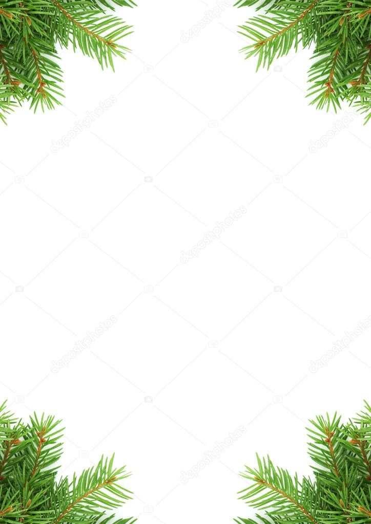 Christmas green framework isolated on white background — Stock Photo #1675012