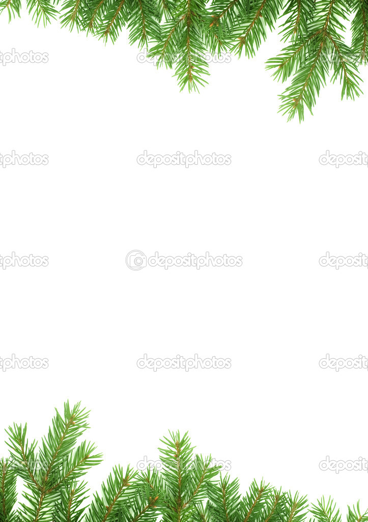 Christmas green  framework isolated on white background — Stock Photo #1754014