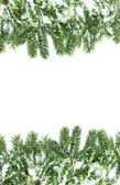 Christmas framework with snow — Stock Photo