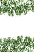Vánoční rámec se sněhem — Stock fotografie