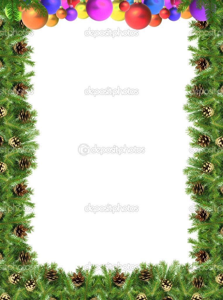 Christmas green  framework isolated on white background  Stock Photo #1766327