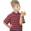 Boy holding an apple — Stock Photo #2034057