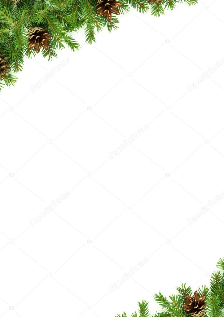 Christmas green  framework isolated on white background — Stock Photo #2123667