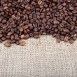 Brown roasted coffee beans. — Stock Photo