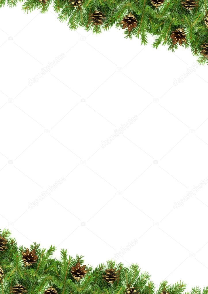 Christmas green  framework isolated on white background — Stock Photo #2297335