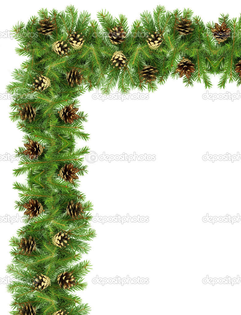 Christmas green  framework isolated on white background — Stock Photo #2579919