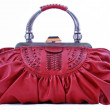 Red leather Dorothy bag — Stockfoto