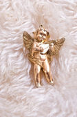 Christmas Toys , angels & Gold Rib — Stock Photo