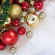 Stock Photo: Christmas Toys , angels & Gold Rib