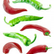 Royalty-Free Stock Photo: Red and green chilli peppers.