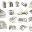 Dollars set. - Stock Photo