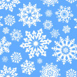 Snowflake seamless pattern. - Stock Vector