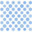 Snowflake set. - Stockvektor