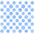 Snowflake set. - Stockvectorbeeld