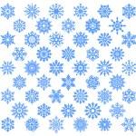 zestaw śnieżynka — Wektor stockowy