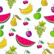 Royalty-Free Stock ベクターイメージ: Fruits seamless background.