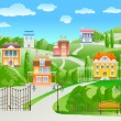 Royalty-Free Stock Vector Image: Houses on hill.