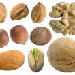Stock Photo: Nuts set.