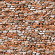 Red brickwork seamless background. — Stock Photo