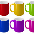 Stock Photo: Varicoloured cups.
