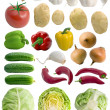 Stock Photo: Vegetables set.